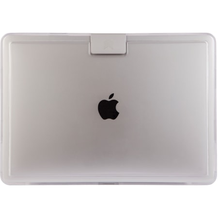 STM Goods Hynt Case for Apple MacBook Pro - Textured, Sandblasted metal badge with etched logo - Clear