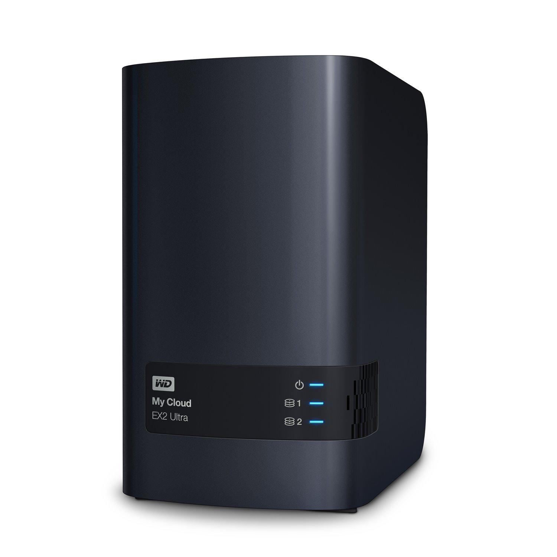 WD My Cloud EX2 Ultra WDBVBZ0160JCH-SESN 2 x Total Bays SAN/NAS Storage System - Marvell Armada 385 Dual-core (2 Core) 1.30 GHz - 1 GB RAM - DDR3 SDRAM Desktop