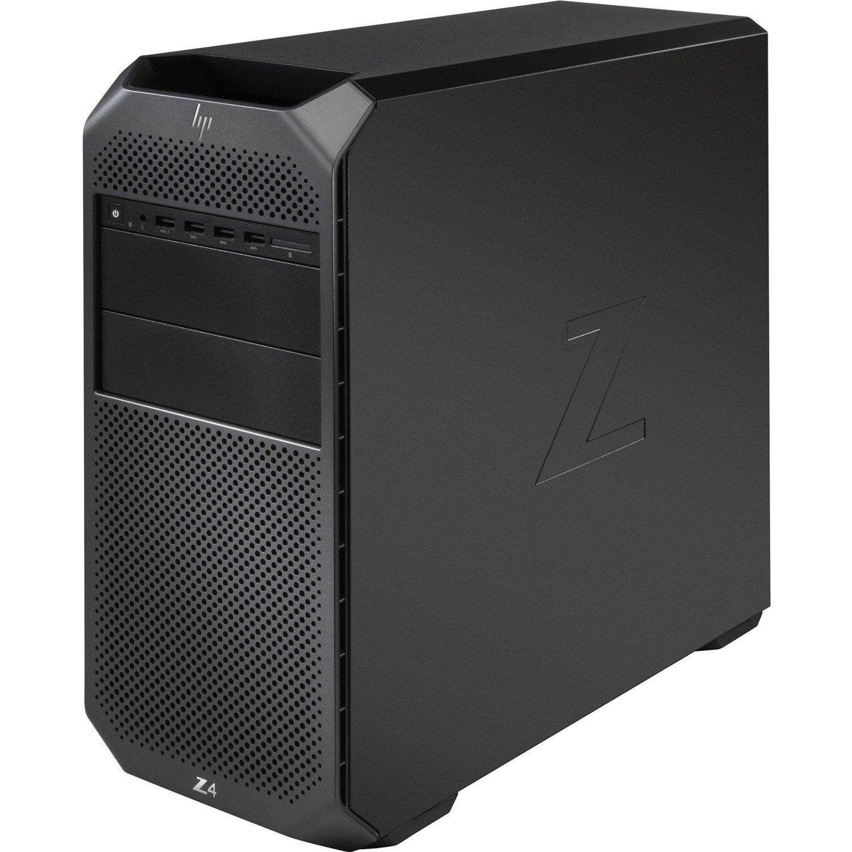 HP Z4 G4 Workstation - 1 x Intel Xeon Quad-core (4 Core) W-2104 3.20 GHz - 16 GB DDR4 SDRAM RAM - 1 TB HDD - 512 GB SSD - Mini-tower - Black