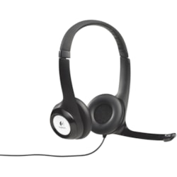 Logitech H390 Wired Over-the-head Stereo Headset - Black/Silver
