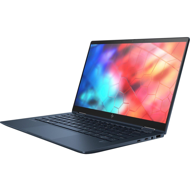 "HP Elite Dragonfly 33.8 cm (13.3"") Touchscreen 2 in 1 Notebook - 1920 x 1080 - Intel Core i5 (8th Gen) i5-8365U Quad-core (4 Core) 1.60 GHz - 16 GB RAM - 512 GB SSD - Iridescent Blue"