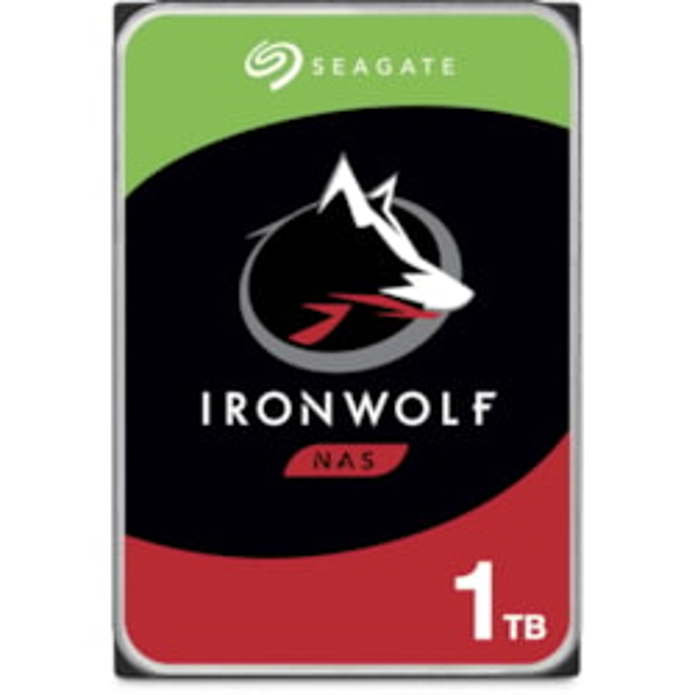 "Seagate IronWolf ST1000VN002 1 TB Hard Drive - 3.5"" Internal - SATA (SATA/600) - Conventional Magnetic Recording (CMR) Method"