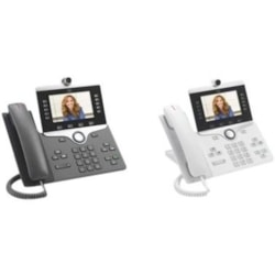 Cisco 8865 IP Phone - Corded/Cordless - Corded/Cordless - Bluetooth, Wi-Fi - Wall Mountable - Charcoal
