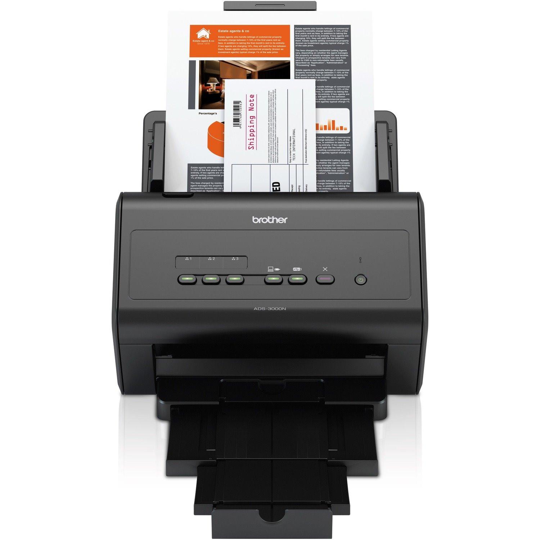 Brother ImageCenter ADS-3000N Sheetfed Scanner - 600 dpi Optical