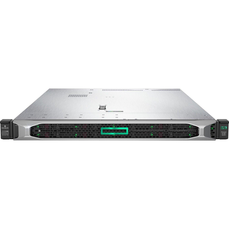HPE ProLiant DL360 G10 1U Rack Server - 1 x Intel Xeon Gold 5220 2.20 GHz - 32 GB RAM - Serial ATA/600, 12Gb/s SAS Controller