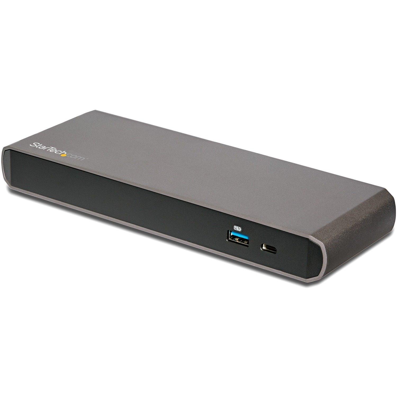 StarTech.com DisplayDock Thunderbolt 3 Docking Station for Notebook - 15 W - Black, Grey