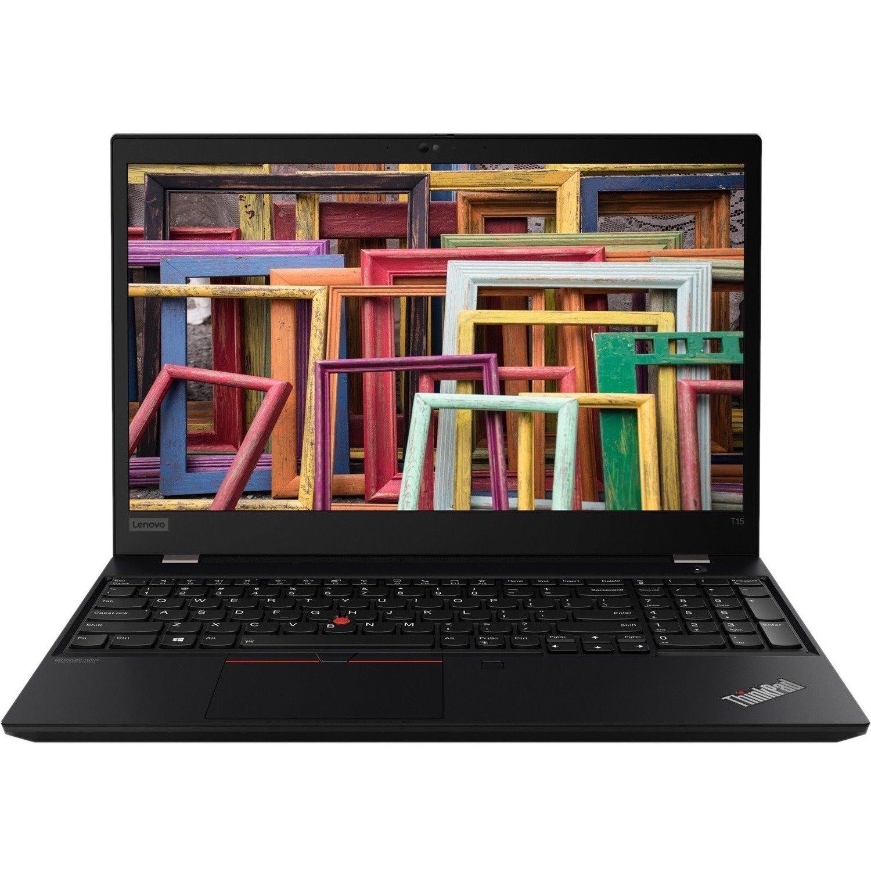 "Lenovo ThinkPad T15 Gen 1 20S6002TAU LTE, UMTS 39.6 cm (15.6"") Touchscreen Notebook - Full HD - 1920 x 1080 - Intel Core i7 10th Gen i7-10510U Quad-core (4 Core) 1.80 GHz - 16 GB RAM - 512 GB SSD - Glossy Black"