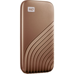 WD My Passport WDBAGF0010BGD-WESN 1 TB Portable Solid State Drive - External - Gold