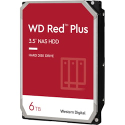 "WD Red Plus WD60EFZX 6 TB Hard Drive - 3.5"" Internal - SATA (SATA/600) - Conventional Magnetic Recording (CMR) Method"