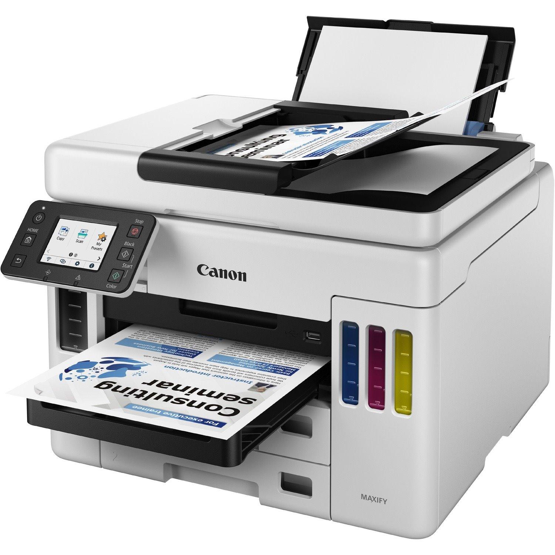 Canon MAXIFY GX GX7020 Wireless Inkjet Multifunction Printer - Color - Black, White