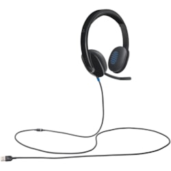 Logitech H540 Wired Over-the-head Stereo Headset - Black