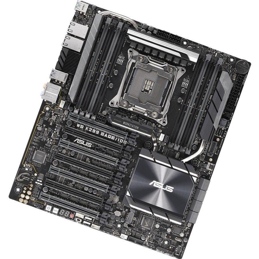 Asus WS X299 SAGE/10G Workstation Motherboard - Intel Chipset - Socket R4 LGA-2066 - Intel Optane Memory Ready - SSI CEB