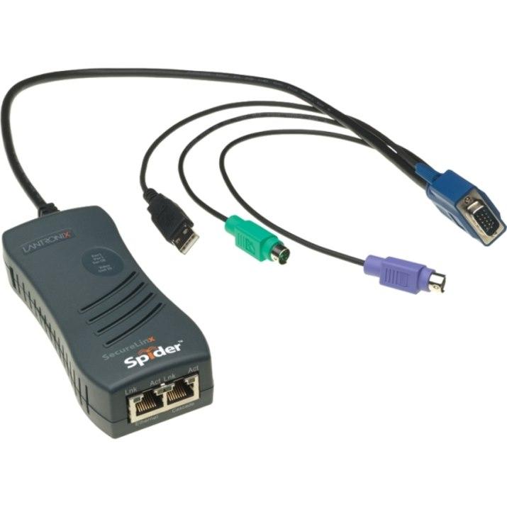 Lantronix SecureLinx Spider 1-Port Remote KVM-over-IP
