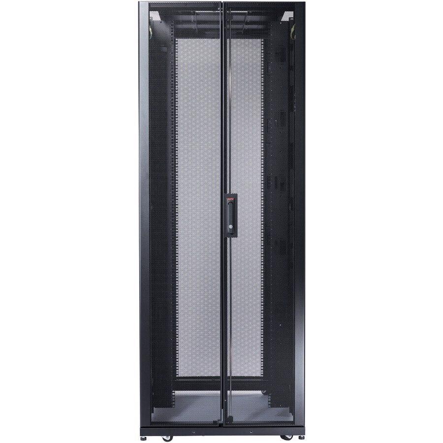 Schneider Electric NetShelter SX 48U Floor Standing Rack Cabinet for Server - 482.60 mm Rack Width - Black