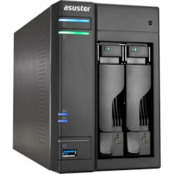 ASUSTOR AS6202T 2 x Total Bays NAS Storage System - Intel Celeron Quad-core (4 Core) 1.60 GHz - 4 GB RAM - DDR3L SDRAM Desktop