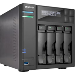 ASUSTOR AS7004T 4 x Total Bays NAS Storage System - Intel Core i3 Dual-core (2 Core) 3.50 GHz - 2 GB RAM - DDR3 SDRAM Desktop