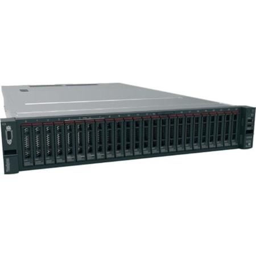 Lenovo ThinkSystem SR650 7X06A06CAU 2U Rack Server - 1 x Intel Xeon Gold 6126 2.60 GHz - 32 GB RAM - 12Gb/s SAS, Serial ATA/600 Controller