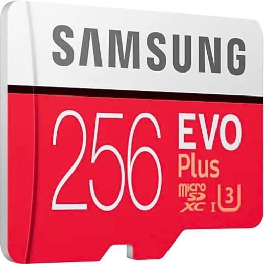Samsung EVO Plus 256 GB Class 10/UHS-I (U3) microSDXC