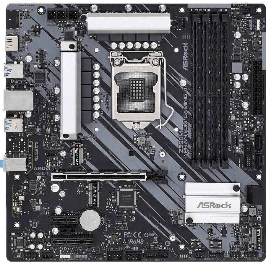 ASRock Z590M Phantom Gaming 4 Desktop Motherboard - Intel Chipset - Socket LGA-1200 - Intel Optane Memory Ready - Micro ATX