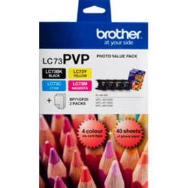 Brother LC73PVP Original Ink Cartridge - Cyan, Magenta, Yellow