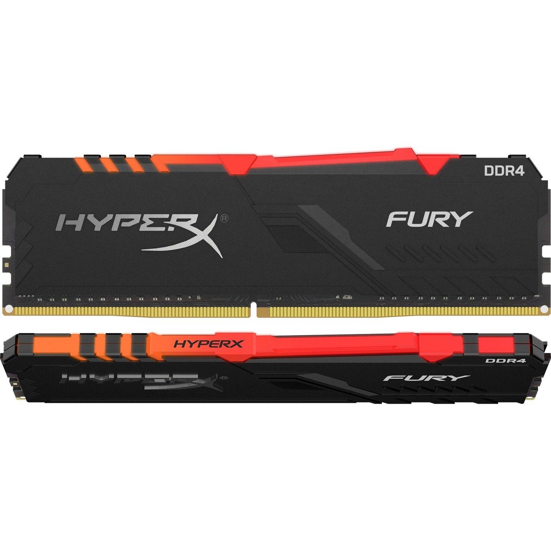 HyperX FURY RAM Module for Desktop PC - 32 GB (2 x 16GB) - DDR4-3200/PC4-25600 DDR4 SDRAM - 3200 MHz - CL16 - 1.35 V