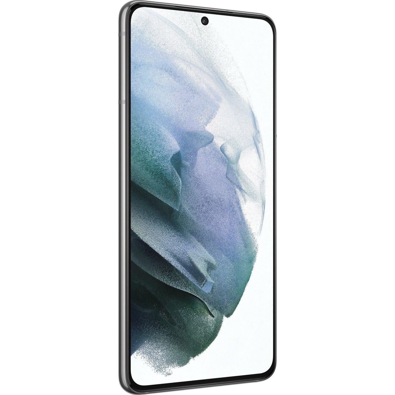 "Samsung Galaxy S21 5G 128 GB Smartphone - 15.7 cm (6.2"") Dynamic AMOLED Full HD Plus 1080 x 2400 - Cortex X1Single-core (1 Core) 2.90 GHz + Cortex A78 Triple-core (3 Core) 2.80 GHz + Cortex A55 Quad-core (4 Core) 2.20 GHz) - 8 GB RAM - Android 11 - 5G - Phantom Gray"