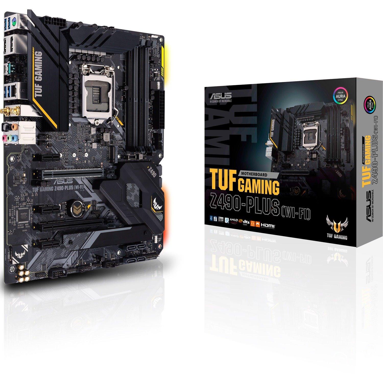 TUF GAMING Z490-PLUS (WI-FI) Desktop Motherboard - Intel Chipset - Socket LGA-1200 - Intel Optane Memory Ready - ATX