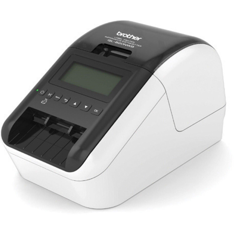 Brother QL820NWB Direct Thermal Printer - Monochrome - Handheld - Label Print - Ethernet - USB - Bluetooth