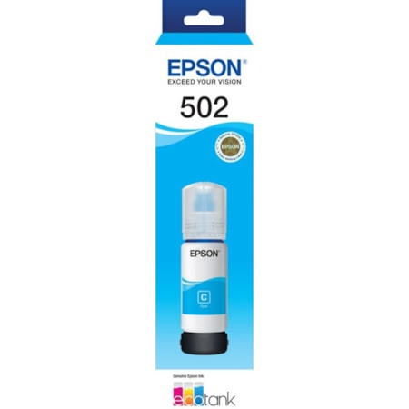 Epson EcoTank T502 Ink Refill Kit - Cyan - Inkjet