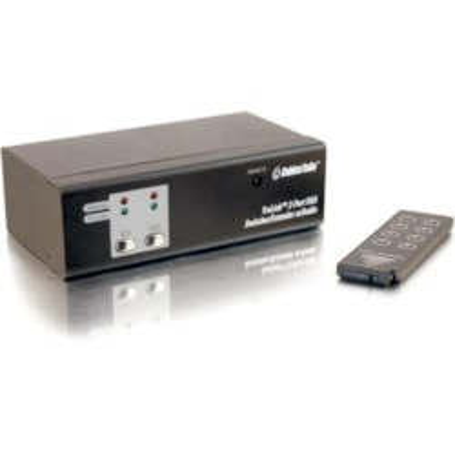 C2G TruLink 2-Port UXGA Monitor Switcher/Extender with 3.5mm Audio