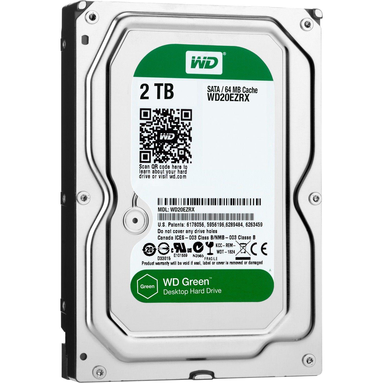 """WD Green WD20EZRX 2 TB Hard Drive - 3.5"""" Internal - SATA (SATA/600)"""