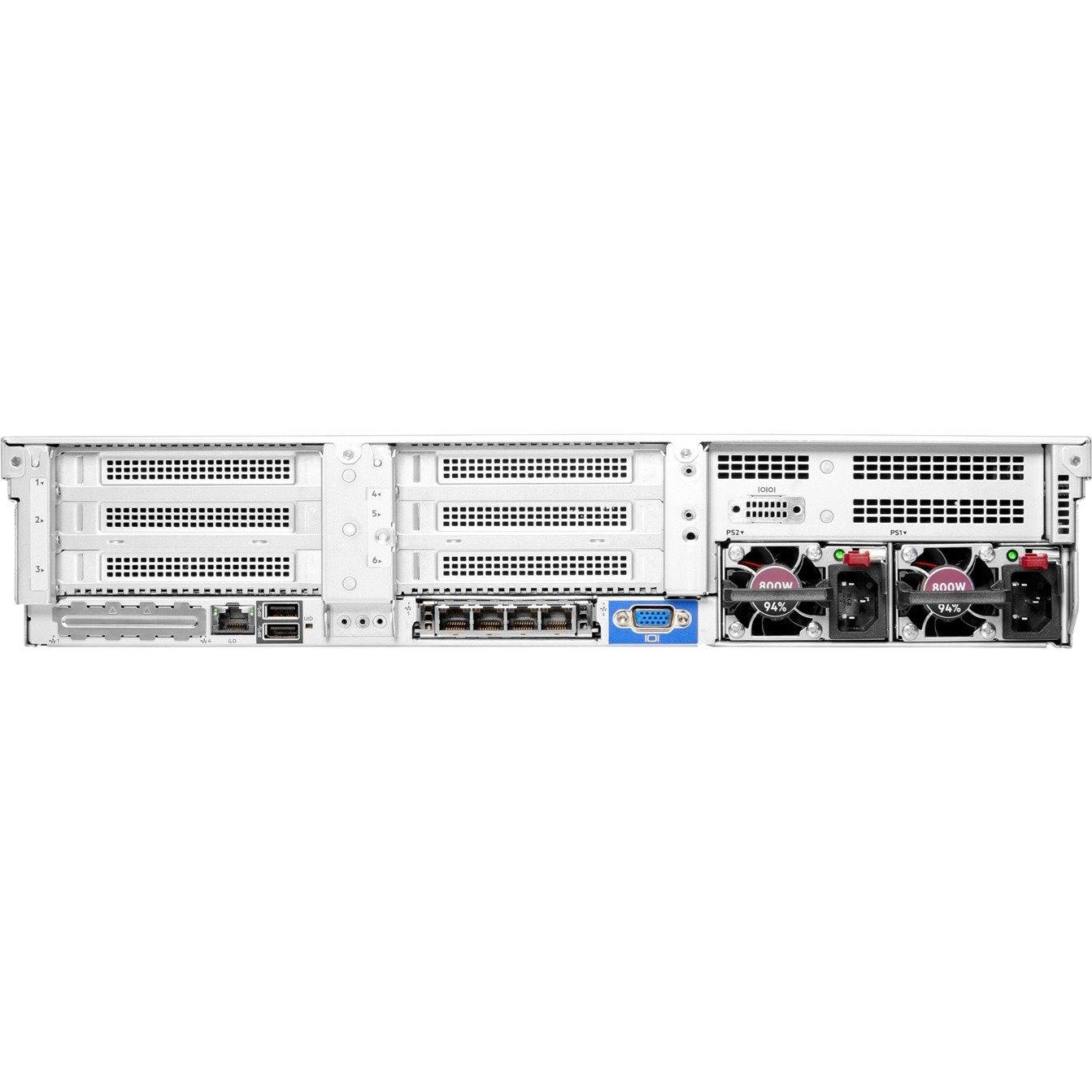 HPE ProLiant DL380 G10 Plus 2U Rack Server - 1 x Intel Xeon Gold 5315Y 3.20 GHz - 32 GB RAM - 12Gb/s SAS Controller