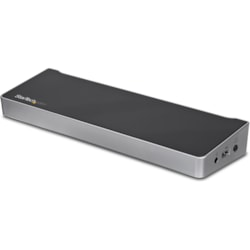 StarTech.com USB 3.0 Docking Station for Notebook/Tablet PC - Black, Silver - TAA Compliant