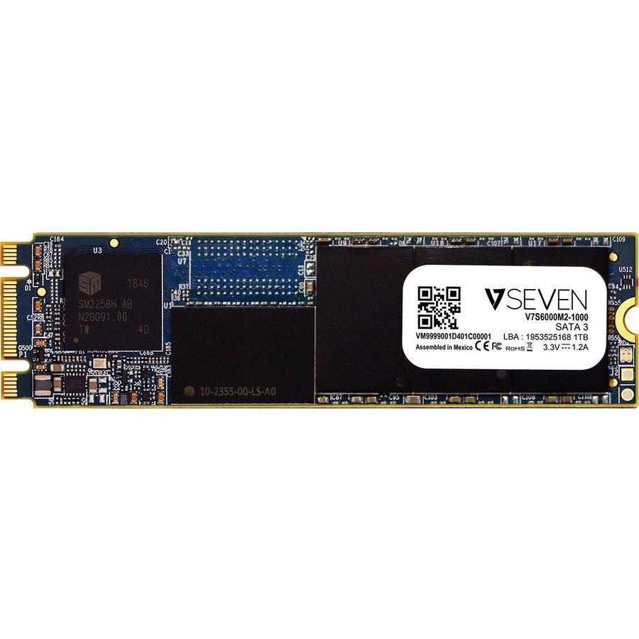 V7 V7S6000M2-1000 1 TB Solid State Drive - M.2 2280 Internal - SATA (SATA/600) - TAA Compliant