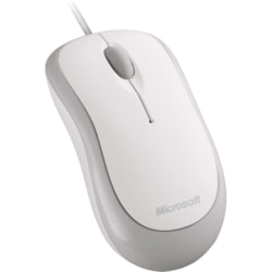Microsoft Mouse - USB, PS/2 - Optical - 3 Programmable Button(s) - White