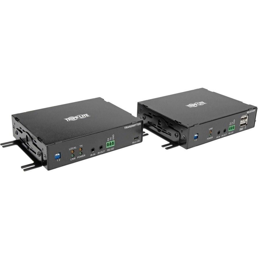Tripp Lite DisplayPort Over Fiber Extender Kit 4K @ 30Hz IR USB Duplex SMF Singlemode TAA