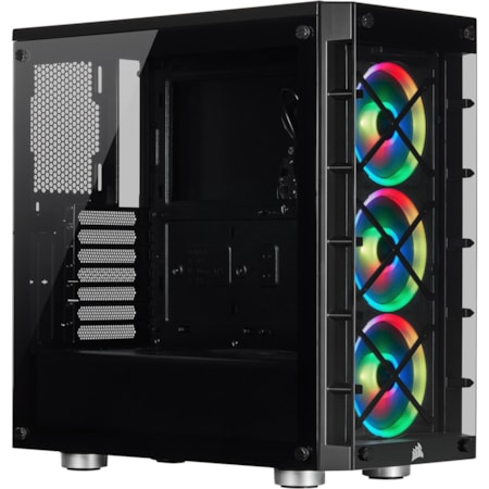 Corsair iCUE 465X RGB Computer Case - Mini ITX, Micro ATX, ATX Motherboard Supported - Mid-tower - Steel, Tempered Glass - Black