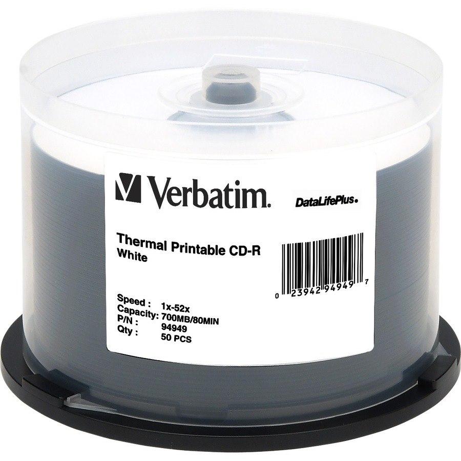 Verbatim DataLifePlus 94949 CD Recordable Media - CD-R - 52x - 700 MB - 50 Pack Spindle