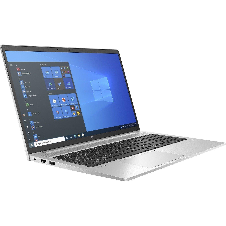 """HP ProBook 455 G8 39.6 cm (15.6"""") Rugged Notebook - HD - 1366 x 768 - AMD Ryzen 7 5800U Octa-core (8 Core) 1.90 GHz - 8 GB RAM - 256 GB SSD - Pike Silver Aluminum"""