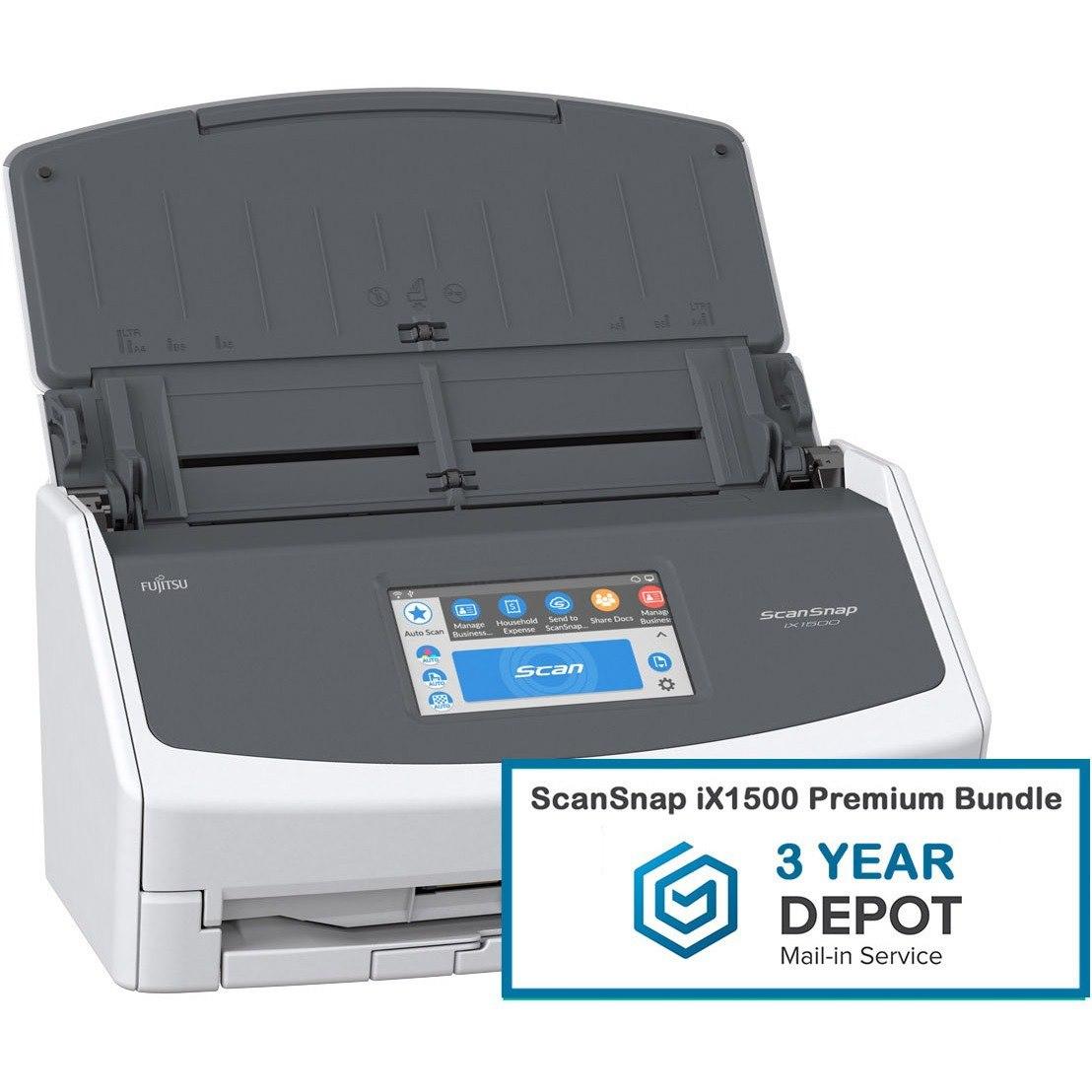 ScanSnap iX1500 Premium Bundle - 3 year Depot Warranty