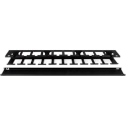 StarTech.com CMDUCT1UX Cable Management Panel - Black - 1 Pack - TAA Compliant