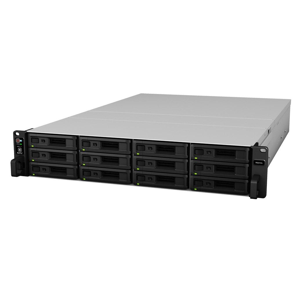 Synology RackStation RS2418+ 12 x Total Bays SAN/NAS Storage System - Intel Atom Quad-core (4 Core) 2.10 GHz - 4 GB RAM - DDR4 SDRAM Rack-mountable