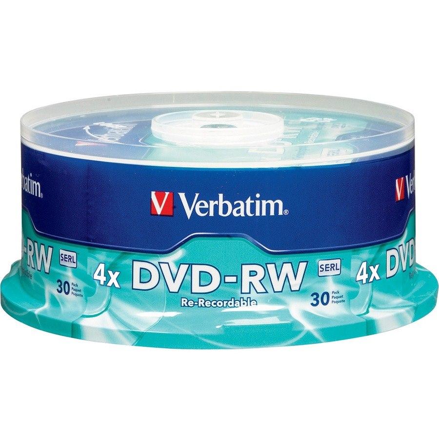 Verbatim DVD Rewritable Media - DVD-RW - 4x - 4.70 GB - 30 Pack Spindle