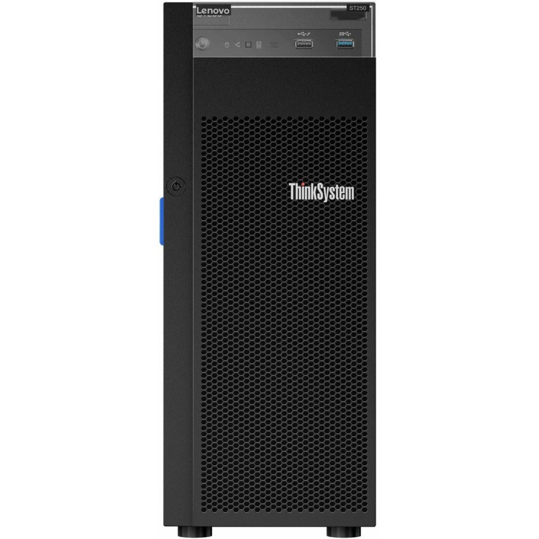 Lenovo ThinkSystem ST250 7Y45A043NA 4U Tower Server - 1 x Intel Xeon E-2288G 3.70 GHz - 8 GB RAM - Serial ATA/600 Controller