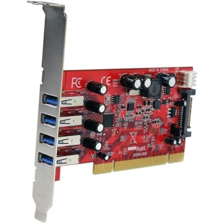 StarTech.com USB Adapter - PCI - Plug-in Card - Red - TAA Compliant