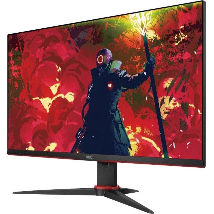 "AOC 24G2E5 60.5 cm (23.8"") Full HD Gaming LCD Monitor - 16:9 - Black, Red"
