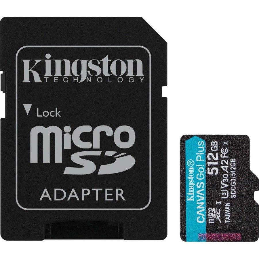 Kingston Canvas Go! Plus 512 GB Class 10/UHS-I (U3) microSDXC