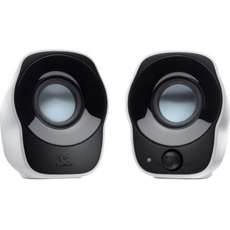 Logitech Z120 2.0 Speaker System - 1.2 W RMS - White, Black