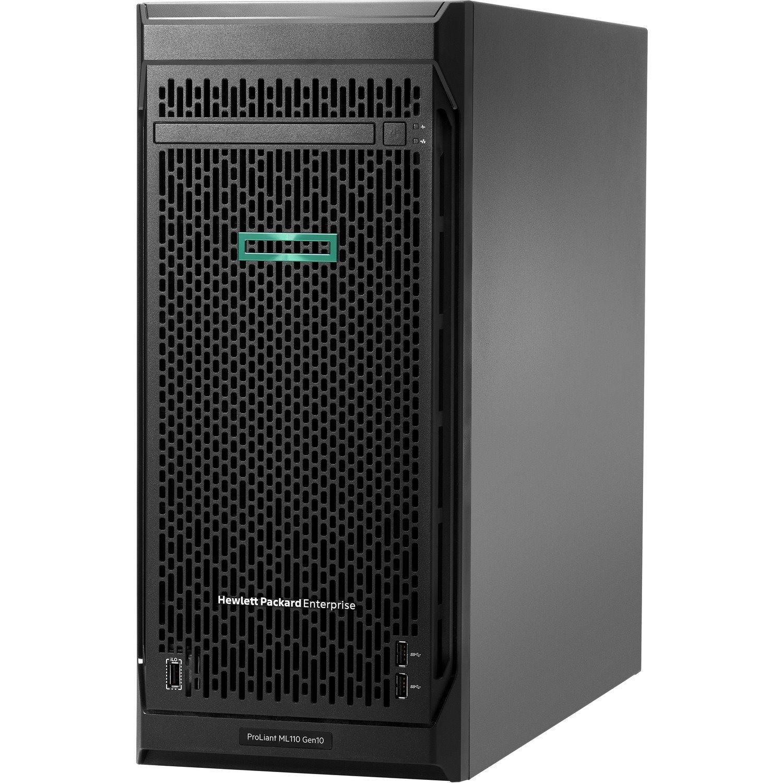 HPE ProLiant ML110 G10 4.5U Tower Server - 1 x Intel Xeon Silver 4210 2.20 GHz - 16 GB RAM - Serial ATA/600 Controller