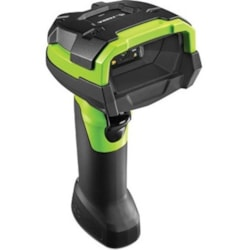 Zebra DS3608-HD Handheld Barcode Scanner - Cable Connectivity - Industrial Green